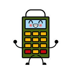 kawaii dataphone credit card payment device vector image