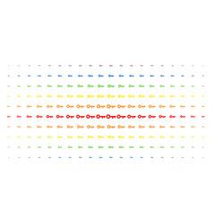 key spectral halftone grid vector image