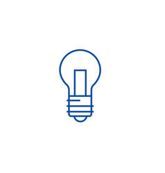light lamp line icon concept light lamp flat vector image