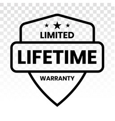 Limited lifetime warranty seal or stamp - line vector