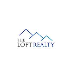 Loft realty house logo design symbol vector