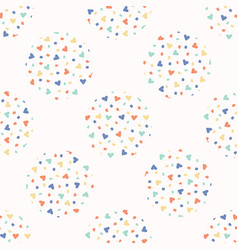 love heart confetti polka dot pattern vector image
