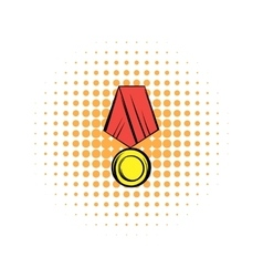 Medal comics icon vector