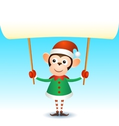 Monkey 2016 christmas new year banner vector image
