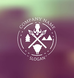 Nature adventure badge vector image