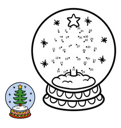 numbers game for children snowball with christmas vector image