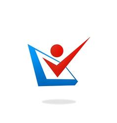 People checklist option logo vector