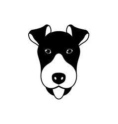 portrait of fox terrier vector image