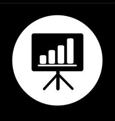 presentation board icon design vector image