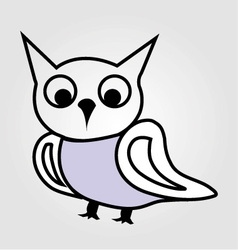 Pretty owl line drawing vector