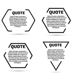 Quote text bubble set template set vector