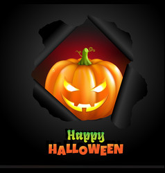 Retro halloween poster vector