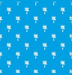 roll brush pattern seamless blue vector image