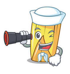 Sailor with binocular traditional mexican food vector