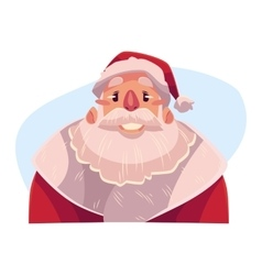Santa Claus face smiling facial expression vector image