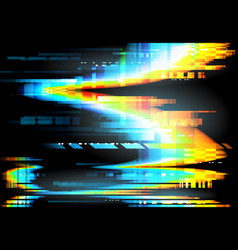 Screen glitch and pixel noise background vector
