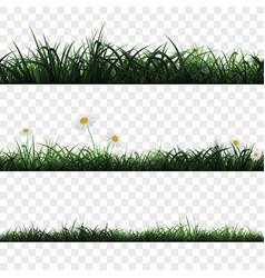 Seamless pattern of grass vector