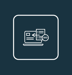 Seo guide icon line symbol premium quality vector