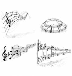 set of music background vector image