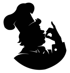 silhouette Chef vector image