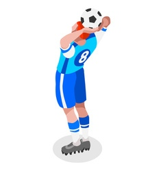 Soccer Throw 2016 Sports 3D Isometric vector