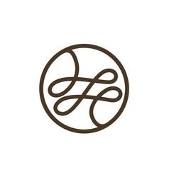 tailor thread logo design template vector image