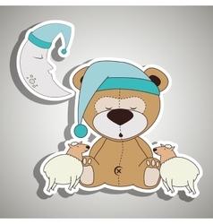 teddy sleeping design vector image