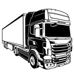 Trailer Truck vector