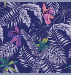 Trendy blue style tropical vector