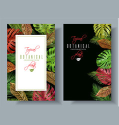 Tropical vertical banners vector