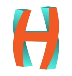 Twisted Letter H Logo Icon Design Template Element vector