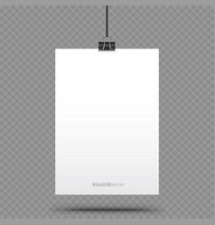 vertical piece of paper hanging vector image