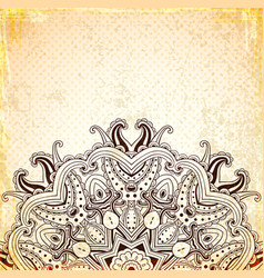vintage background with round oriental ornament vector image