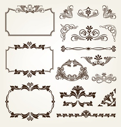 Vintage Retro Calligraphic Borders Royalty Free Vector Image