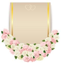 Wedding Flower Card vector image