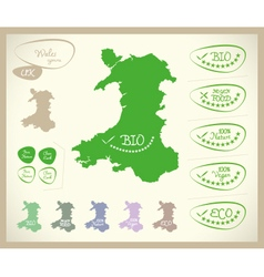 Bio map uk wales vector