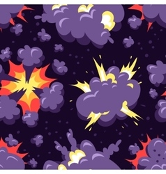 Boom icons seamless pattern explosion vector image