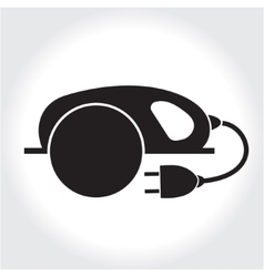 Circular saw tool icon black silhouette element vector