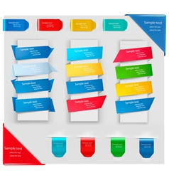 colorful origami banners vector image vector image