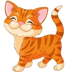 Cute kitten vector
