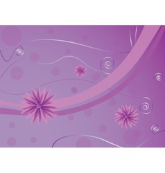 Flowers abstract background vector image