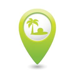 beach icon green map pointer2 vector image