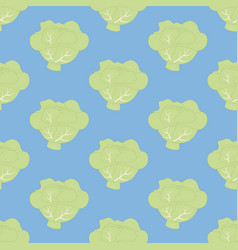 Cabbage seamless pattern vector