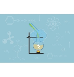 chemistry background vector image vector image