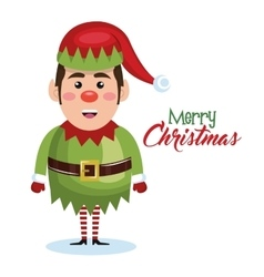 elf christmas character icon vector image