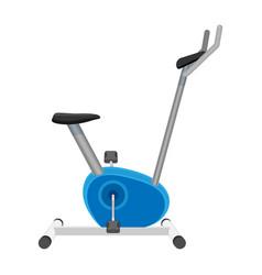 exercise bike or orbitrek isolated on white vector image vector image