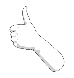 Hand gesture good vector image