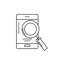line smartphone technology information with vector image vector image