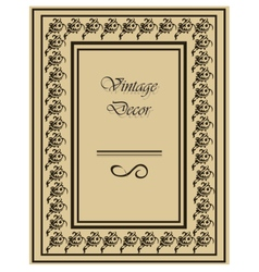 Vintage frame with ornaments vector image vector image