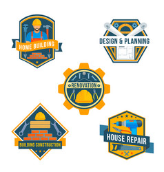 work tools icons for house repair design vector image vector image
